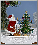 Santa's Here! Art Pewter Christmas decoration