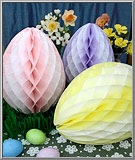 Honeycomb tissue Easter egg decorations