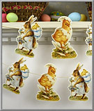 Easter Rabbits and Chicks die-cuts garland