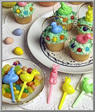 Filigree basket handles for Easter cupcakes