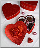 red heart Valentine candy box
