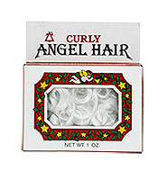 vintage box of curly spun glass angel hair