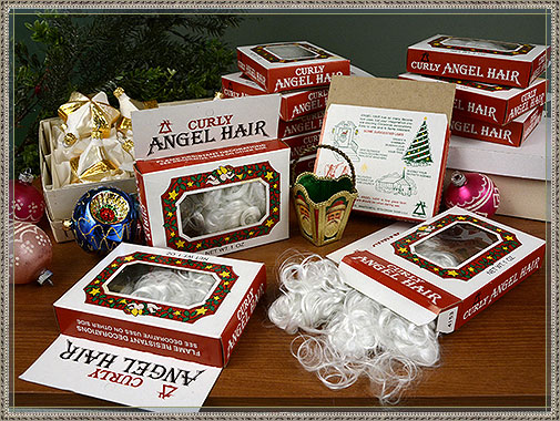 spun glass curly angel hair in original boxes made in USA