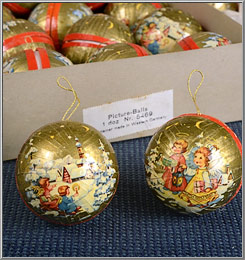 1970s angel gift ball paper-mache Christmas ornaments